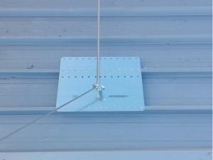 montaggio linea vita su tettoia brescia